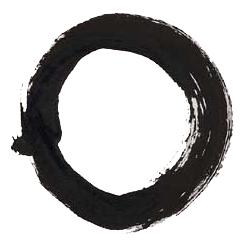 Man sieht einen dunkel gezeichneten Kreis, der eine helle Fläche abgrenzt. Das Wichtige am Bild ist die leere Fläche, wie auch bei einem Krug der Hohlraum wichtig ist.